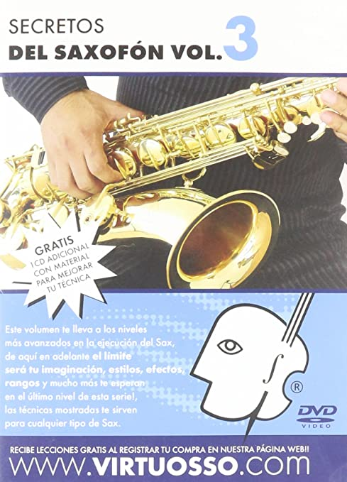 Amazon.com: Virtuosso Saxophone Method Vol.3 (Curso De Saxofón Vol.3) SPANISH ONLY: Musical Instruments