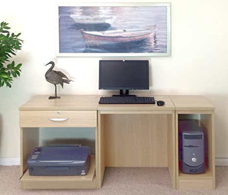 Home Mobiliario de Oficina UK pequeño Ordenador portátil Impresora Mesa para niños Kids Escritorio Set,
