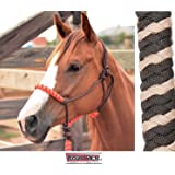 CLASSIC EQUINE NYLON ROPE HALTER WITH LEAD AND POPPER ALL NEW COLORS
