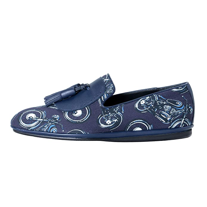 Amazon.com: Salvatore Ferragamo Mens Finnegan Leather Moccasins Loafers Slip On Shoes US 7.5 IT 40.5 Blue/White: Shoes