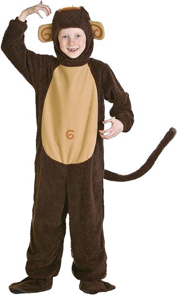 Garçons filles enfants Marron Singe Masque Costume Robe fantaisie cuticule Toad 3-8 ans