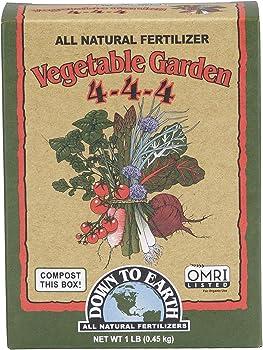 Down To Earth 4-4-4 Fertilizer For Vegetable Garden