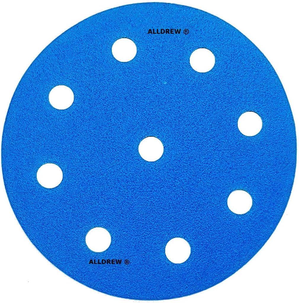 Disque de pon/çage humide et sec 125 mm pour papier de verre 9 trous Compatible avec les ponceuses FESTOOL