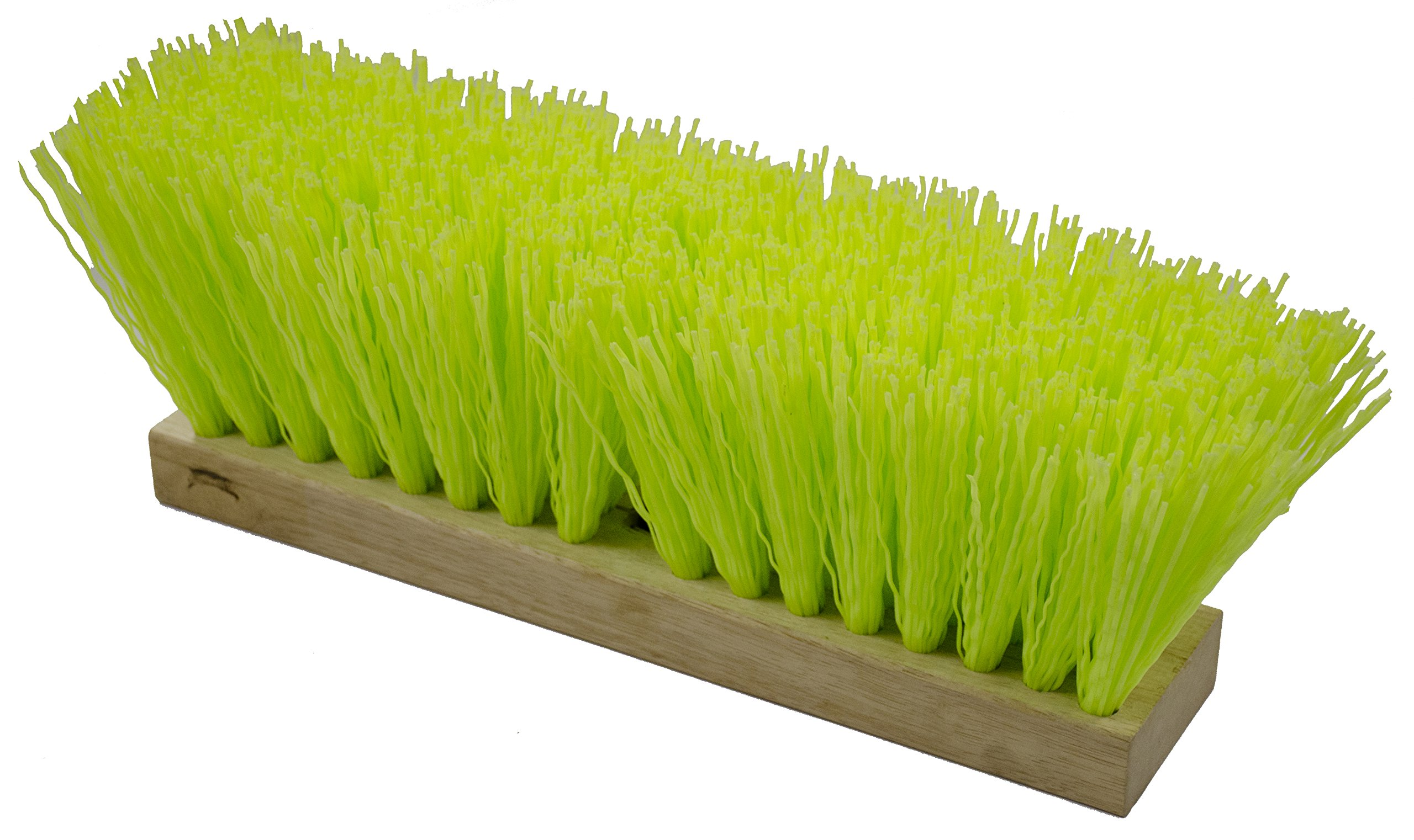 Magnolia Brush 1316-VS 16'' High Visibility Street Broom, Hi Vis Green (Pack of 6)