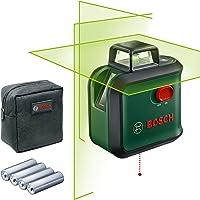 Bosch korslinjelaser AdvancedLevel 360 (horisontallinje på 360°, två vertikallinjer och lodpunkt nedtill, grön laser, 4…