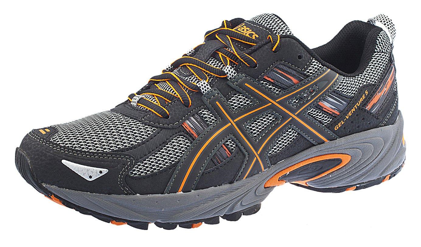 ASICS Men's Gel Venture 5 Running Shoe (7.5 D(M) US, Black/Shocking Orange)