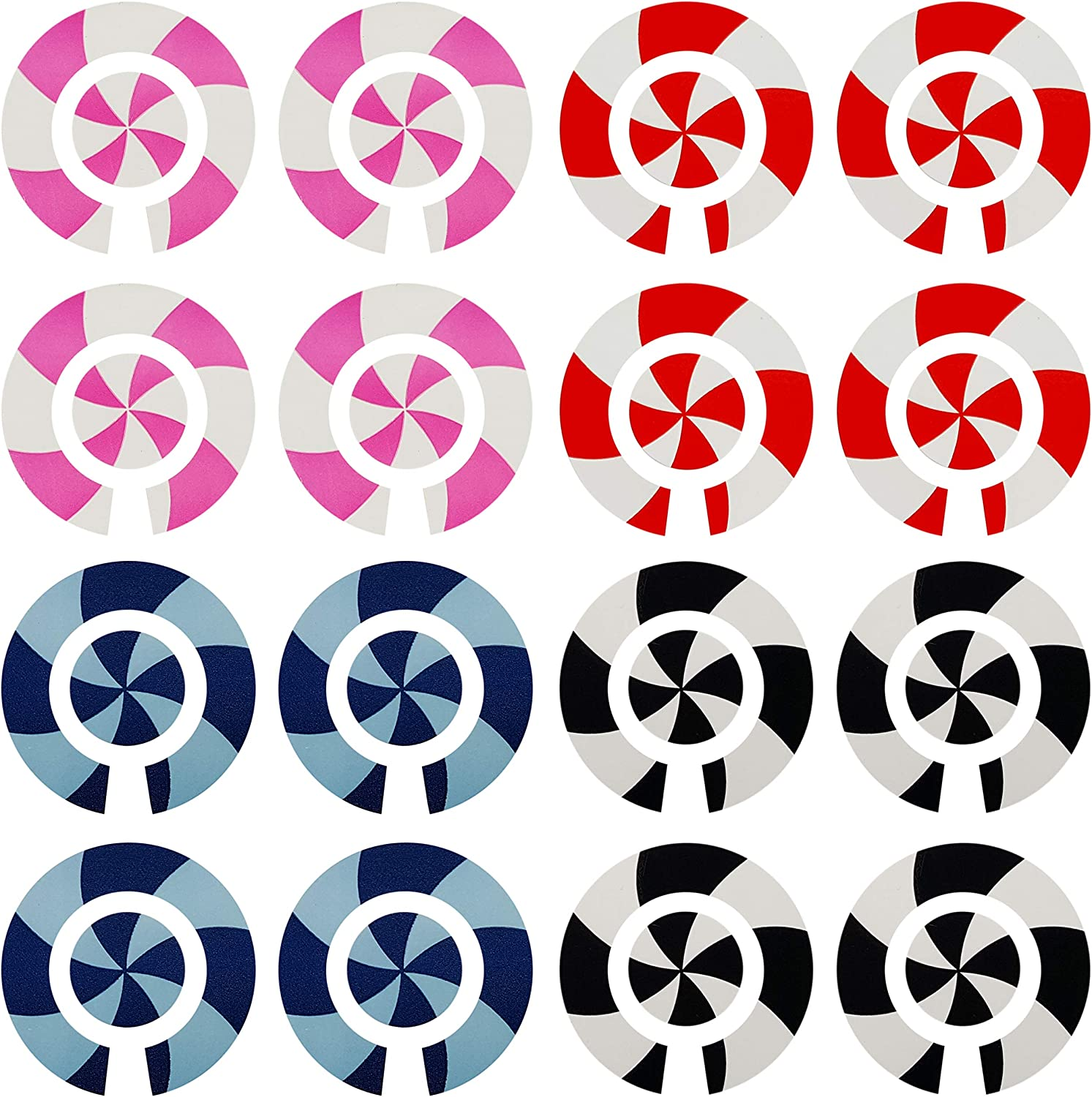 ACCLAIM Self Adhesive Graduated Spiral Bowls Bowlers Identity Stickers Sets Of 4