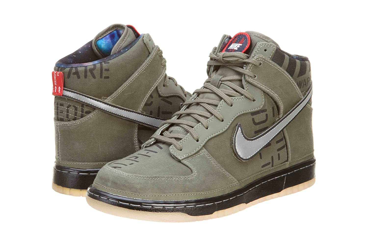 info for 09a43 45708 Amazon.com  Nike Dunk Hi Premium QS All Star Galaxy Pack Mens Basketball  Shoes Rogue GreenBlack 503766-300-14  Shoes
