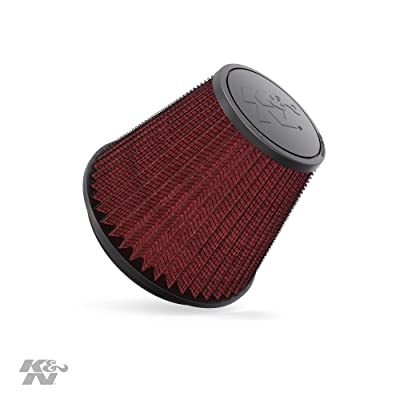 K&N Universal Clamp-On Air Filter: High Performance, Premium, Washable, Replacement Filter: Flange Diameter: 6 In, Filter Height: 6 In, Flange Length: 0.625 In, Shape: Round Tapered, RF-1048: Automotive