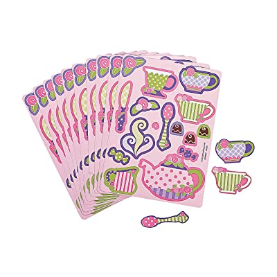 Fun Express Girly Tea Party Sticker Sheets (2 Dozen) Toy: Toys & Games [5Bkhe0505863]
