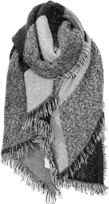 WOKKOL Bufanda Mujer Invierno, Mantón Mujer, Pashmina Mujer, Poncho Mujer Invierno, Bufanda Mujer Invierno Tela de Cachemira Suave, un Regalo Cálido para la Abuela, la Madre y la Novia en Invierno