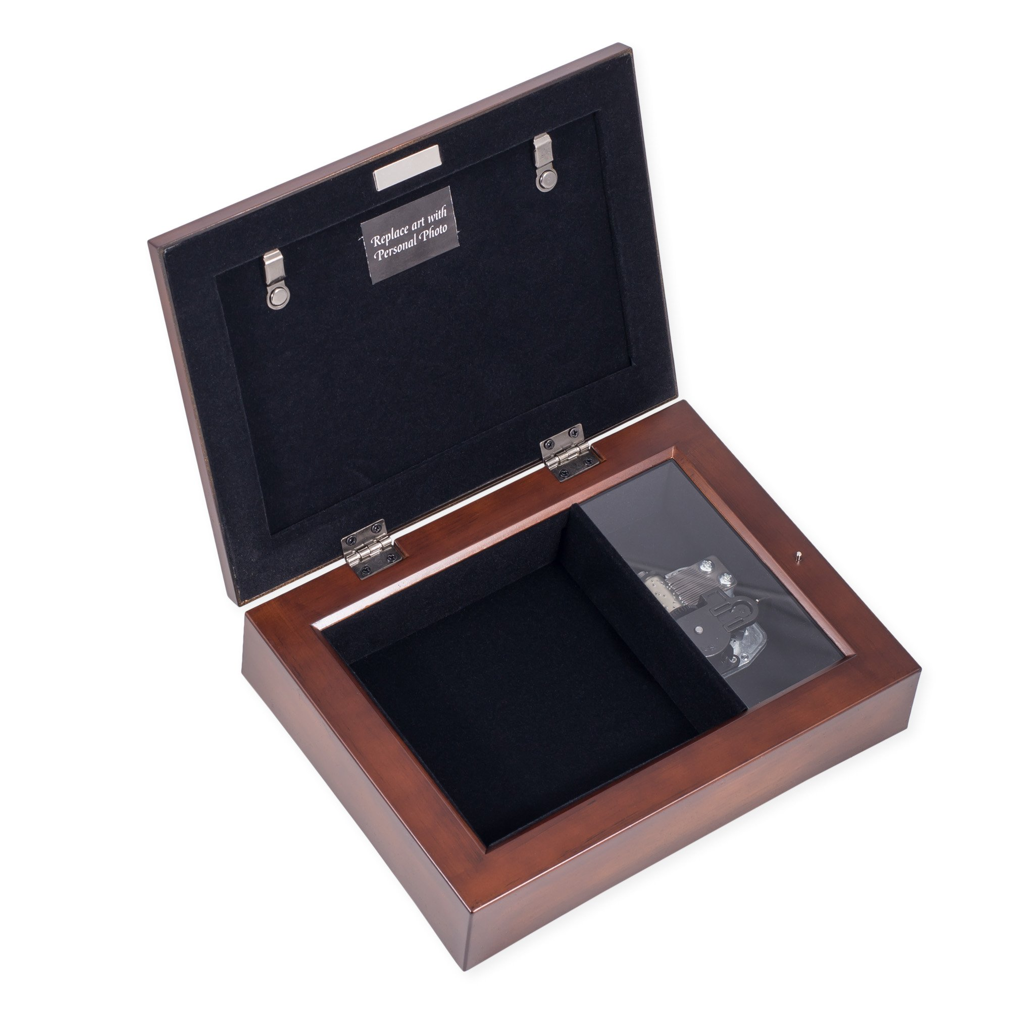 Friendship Life's Gifts Jewel Musical Music Jewelry Box with Dark Wood Finish Plays That's What Friends Are For by Cottage Garden (Image #5)