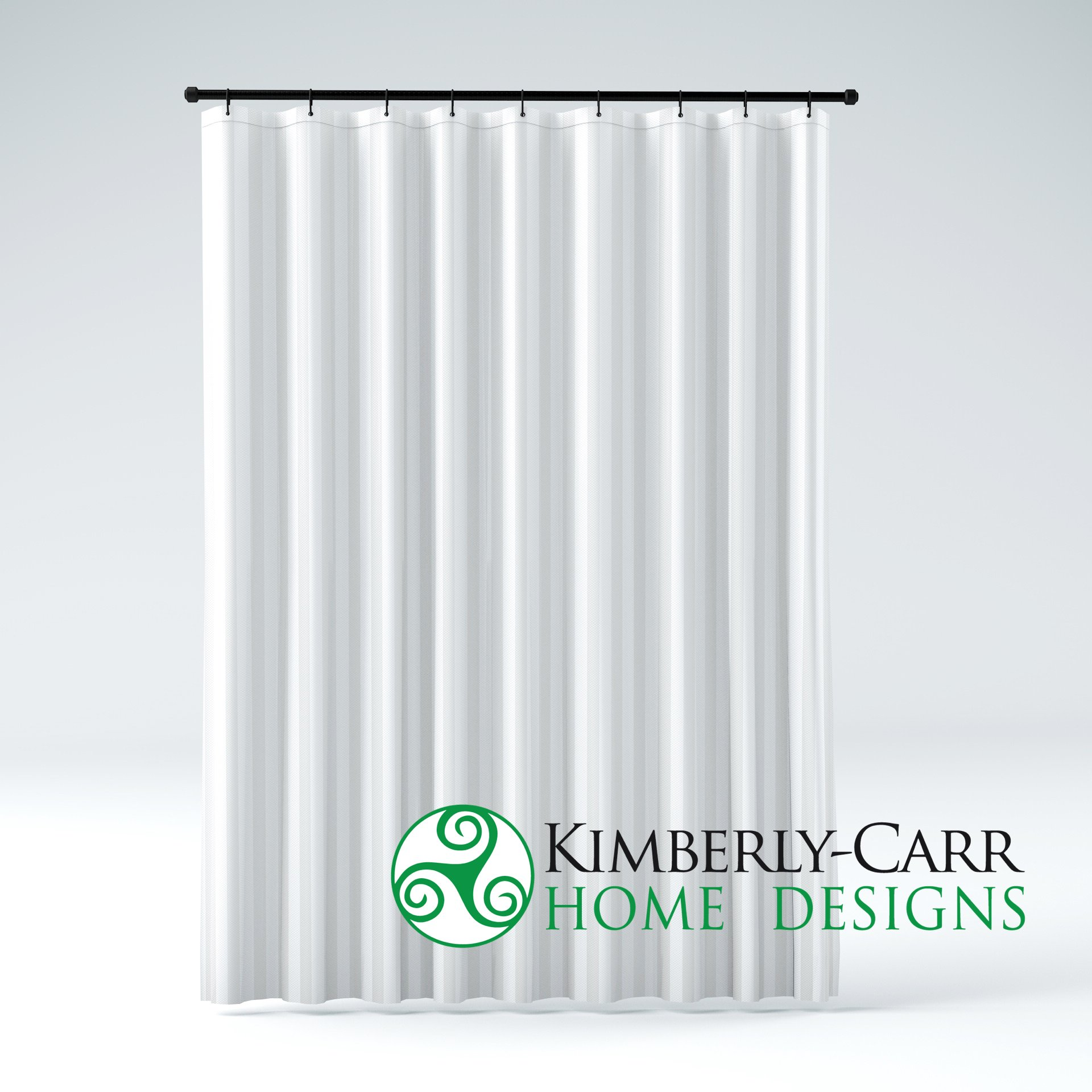 EXTRA LONG Size THE SHOWER CURTAIN LINER Hotel Quality Mildew Resistant Water-Repellent Washable Fabric, Elegant White Tonal Damask Stripe, Eco Friendly & PVC-Free (72 inches Wide by 84 inches Long)
