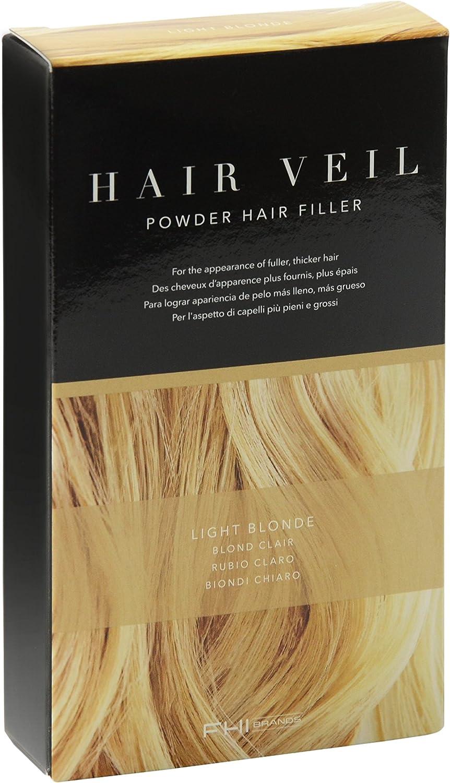 FHI Cosmeticos Hair Veil - Polvo de Relleno de Raíces, color Rubio Claro