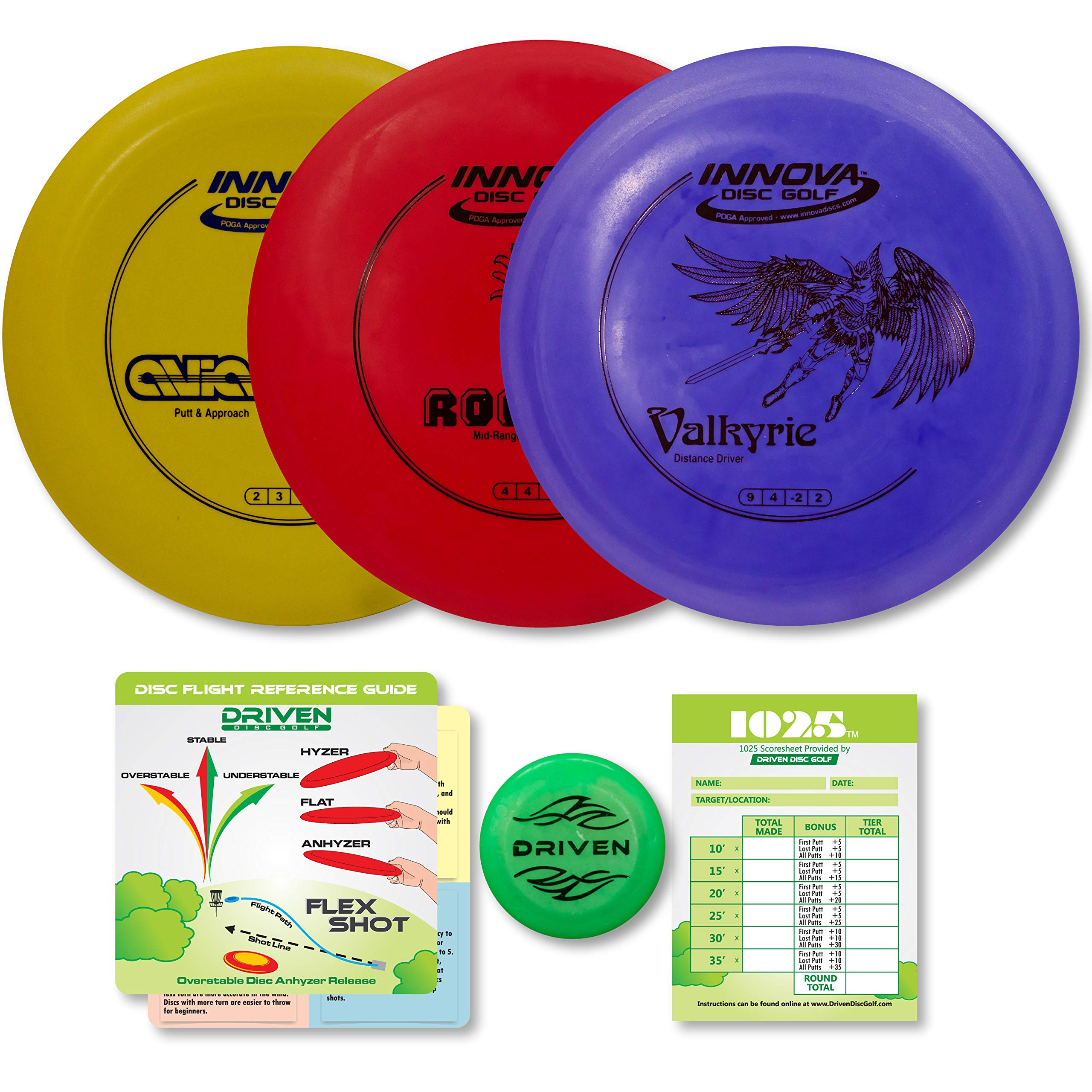 Driven Disc Golf Set - Innova Valk, ROC, and Aviar by Driven Disc Golf