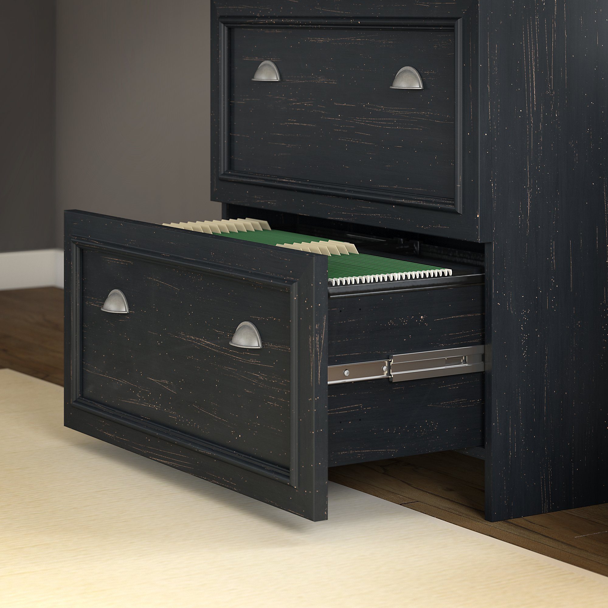 Bush Furniture Fairview Storage Cabinet With Drawer