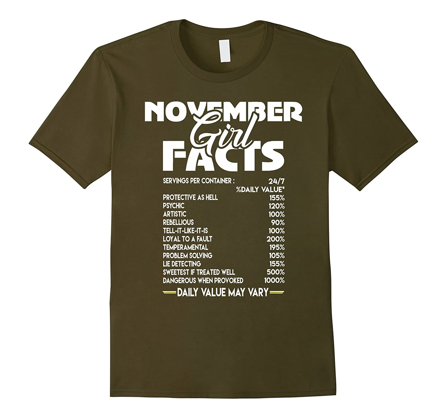November Girl Facts T-shirt-FL