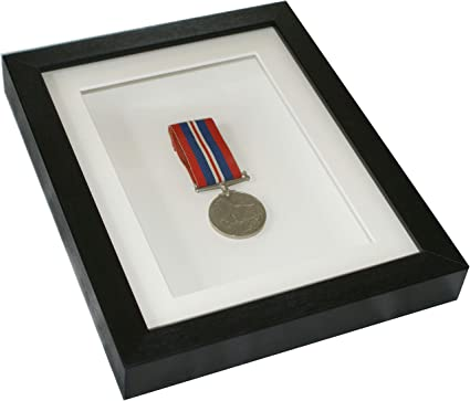 Caja profunda negro medalla marco 22,86 cm x cm 17,78 cm x 12,7 cm ...