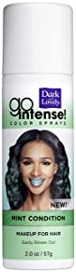 Temporary Hair Color by SoftSheen-Carson Dark and Lovely, Go Intense Color Sprays, Hair Color Spray for Instant and Ultra-vibrant Color even on Dark Hair, For Natural and Relaxed Hair, Mint Condition