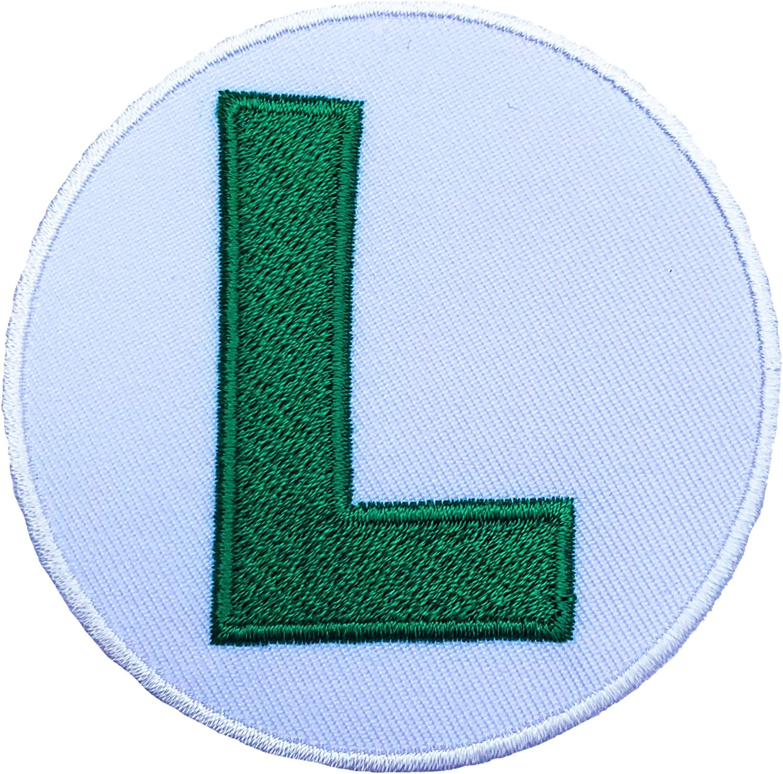 Luigi L logotipo bordado hierro en apliques Badge disfraz de ...