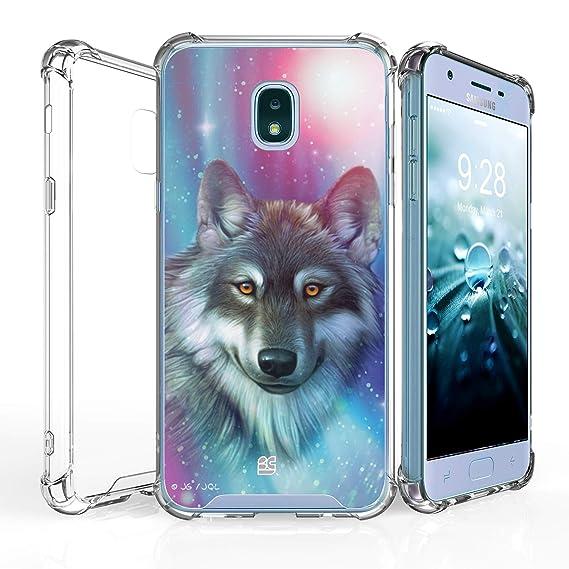 best service 1fa26 ecc21 for Samsung Galaxy J7 (2018), J7 Refine, J7 Star, J7V 2nd Gen, J737  [Shockproof] Hybrid Slim Cover w/[Air Pocket Corners] Case - Lone Wolf