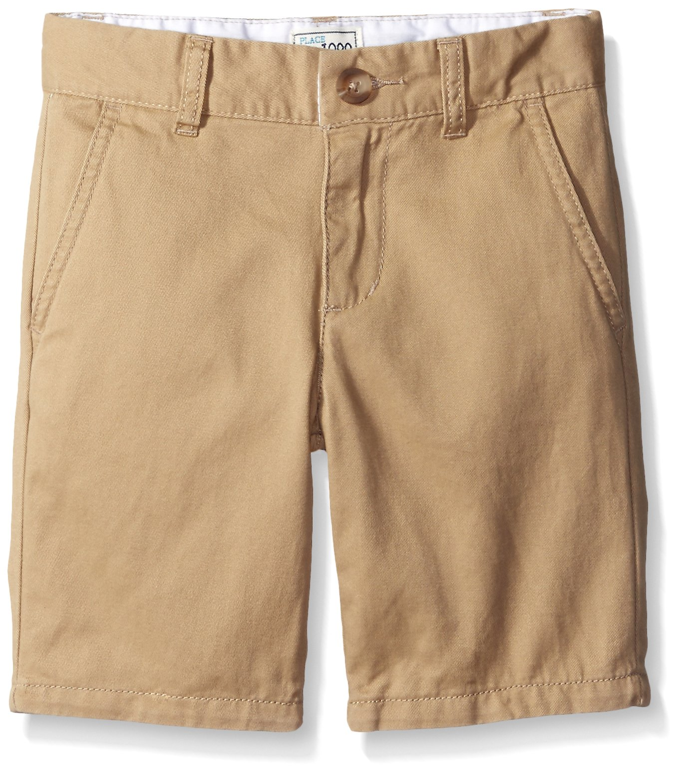 The Children's Place Boys' His Chino Shorts, Flax, 12