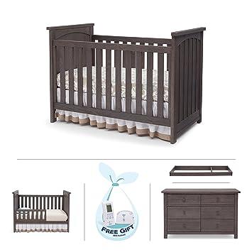 Serta North 4 Piece Nursery Furniture Set Including FREE Baby Digital  Monitor (ships Separately