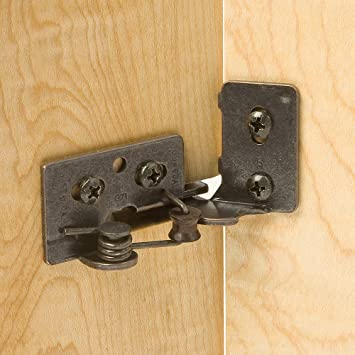 Snap Closing Semi Concealed Hinges   Oil Rubbed Bronze (pair)