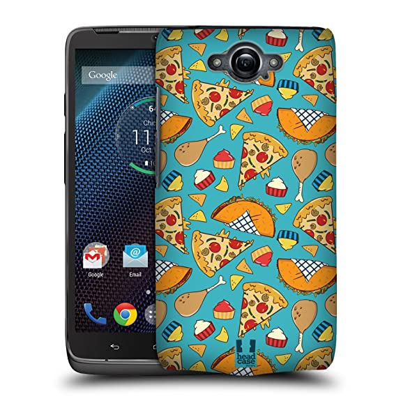 Head Case Designs Pizza And Taco Fast Food Patterns Hard Back Case for Motorola DROID Turbo