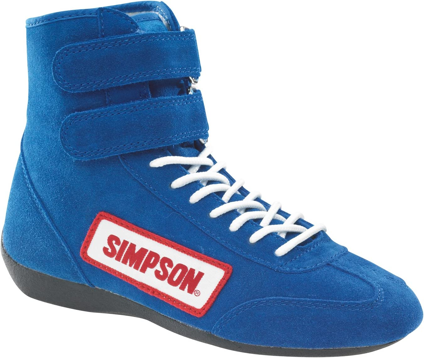 Simpson Racing 28105BK The Hightop Black Size 10-1//2 SFI Approved Driving Shoes