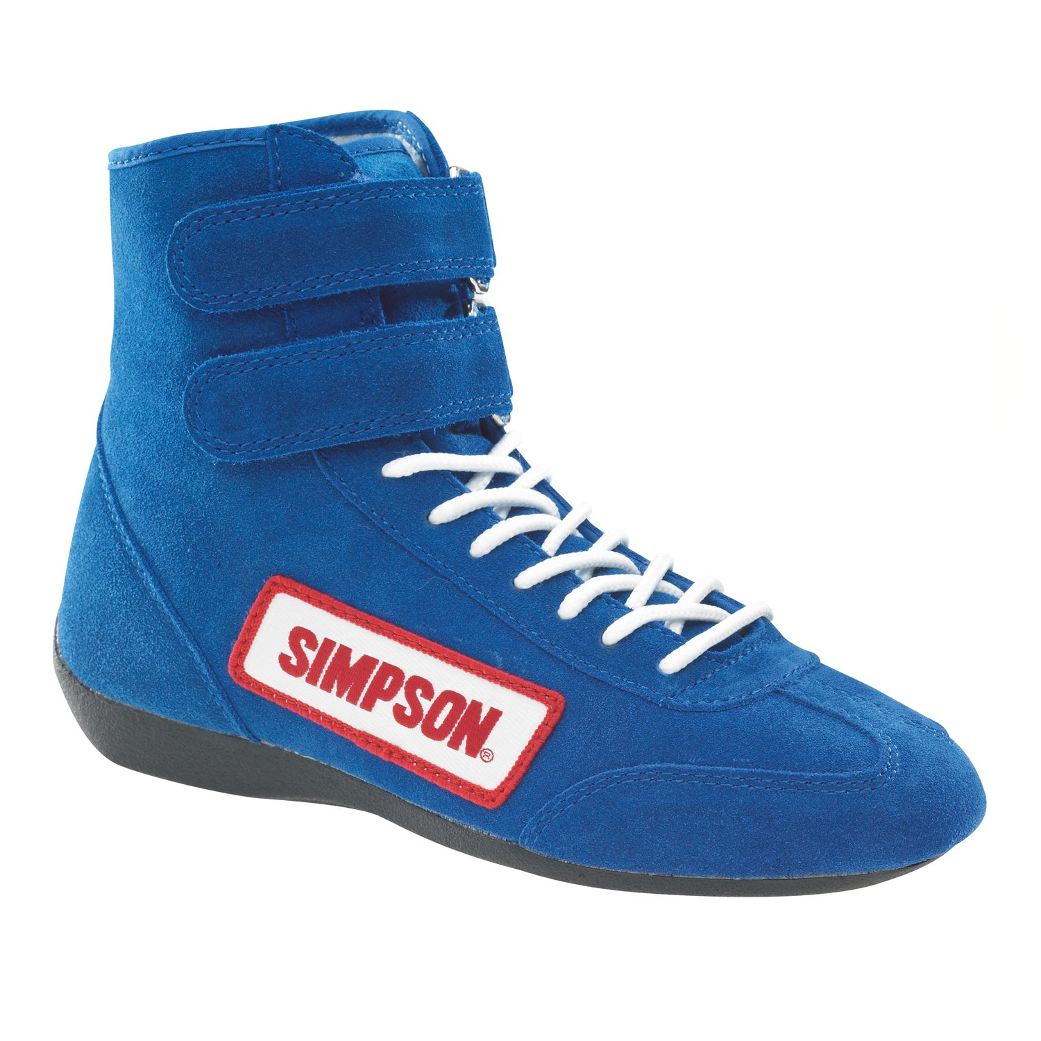 Simpson Racing 28800BL The Hightop Blue Size 8 SFI Approved Driving Shoes