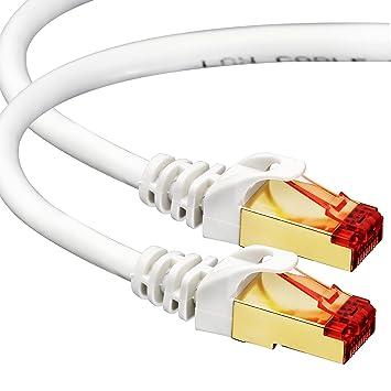 amazon com cat7 ethernet cable 20 ft rj45 connector doublecat7 ethernet cable 20 ft rj45 connector double shielded stp 10 gigabit 600mhz