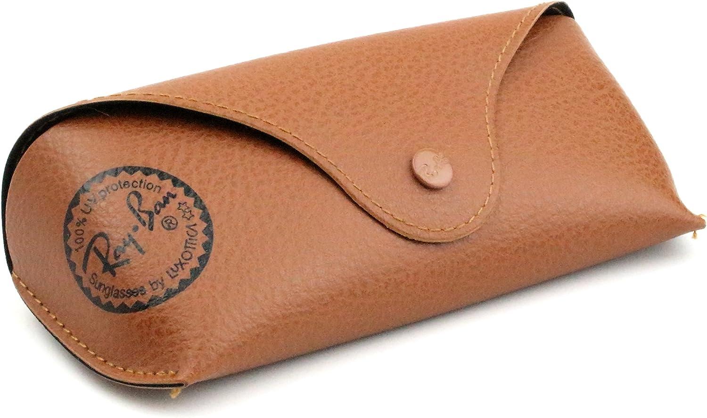 Ray-Ban Original marrón funda de piel estilo tamaño mediano – se adapta a la mayoría Rayban Gafas de sol, RB3025, RB2132, Rayban Aviator, Rayban Wayfarer: Amazon.es: Zapatos y complementos