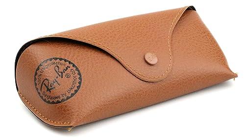 Ray-Ban Original marrón funda de piel estilo tamaño mediano ...