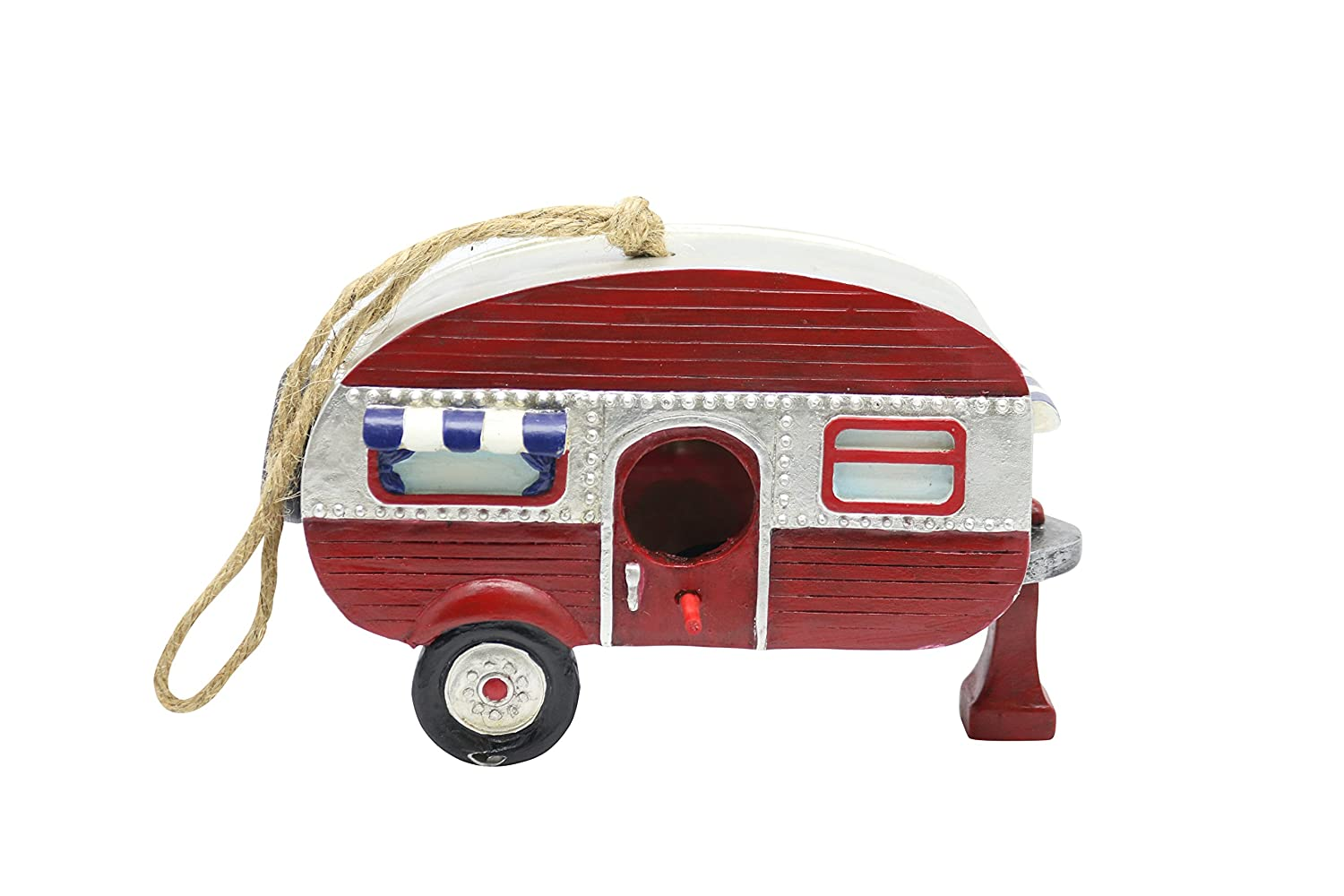 Alpine SLL1574 Hanging Red Camper Birdhouse