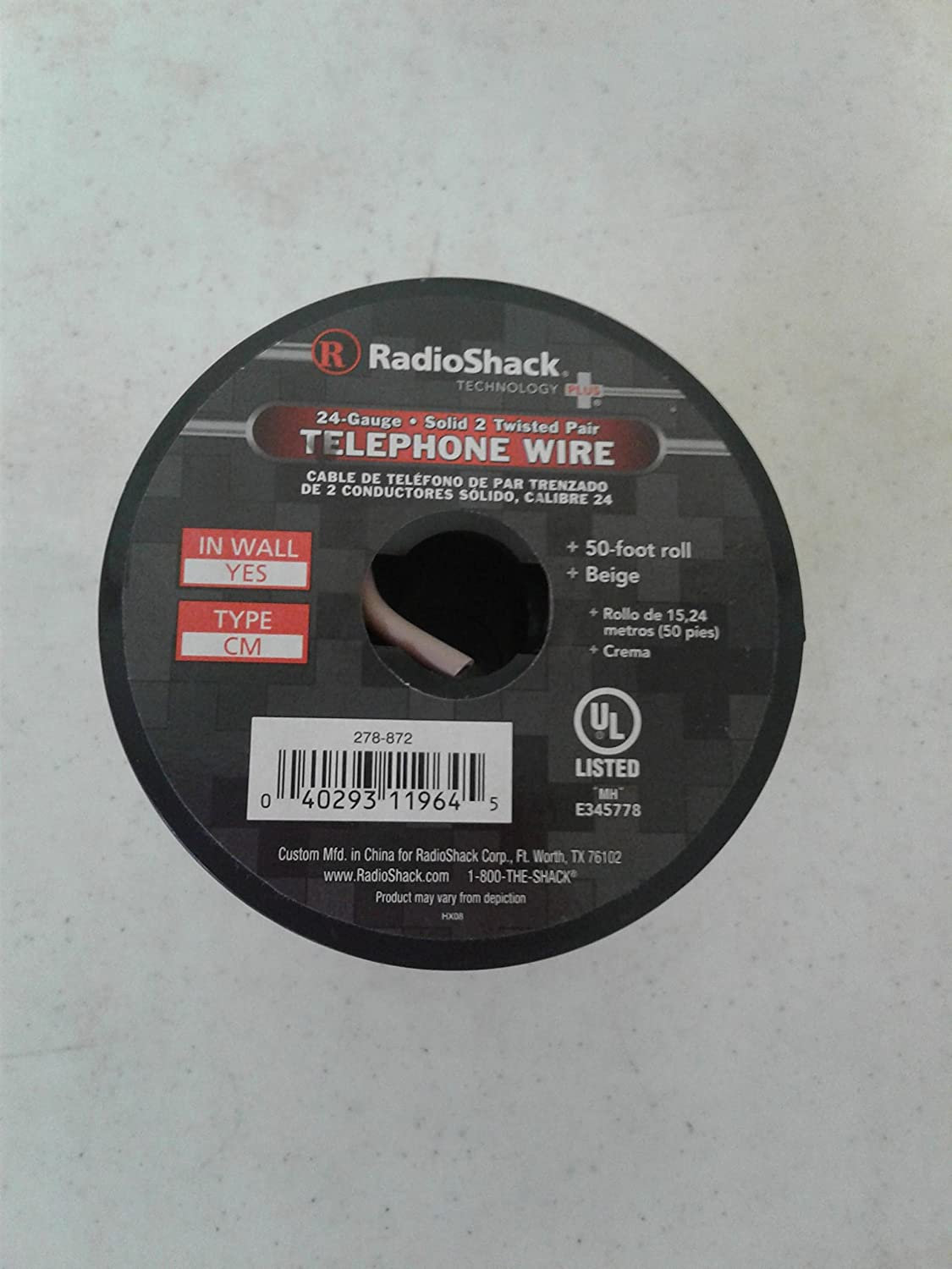 Amazon.com: 24-Gauge Solid 2 Twisted Pair Telephone Wire: Electronics