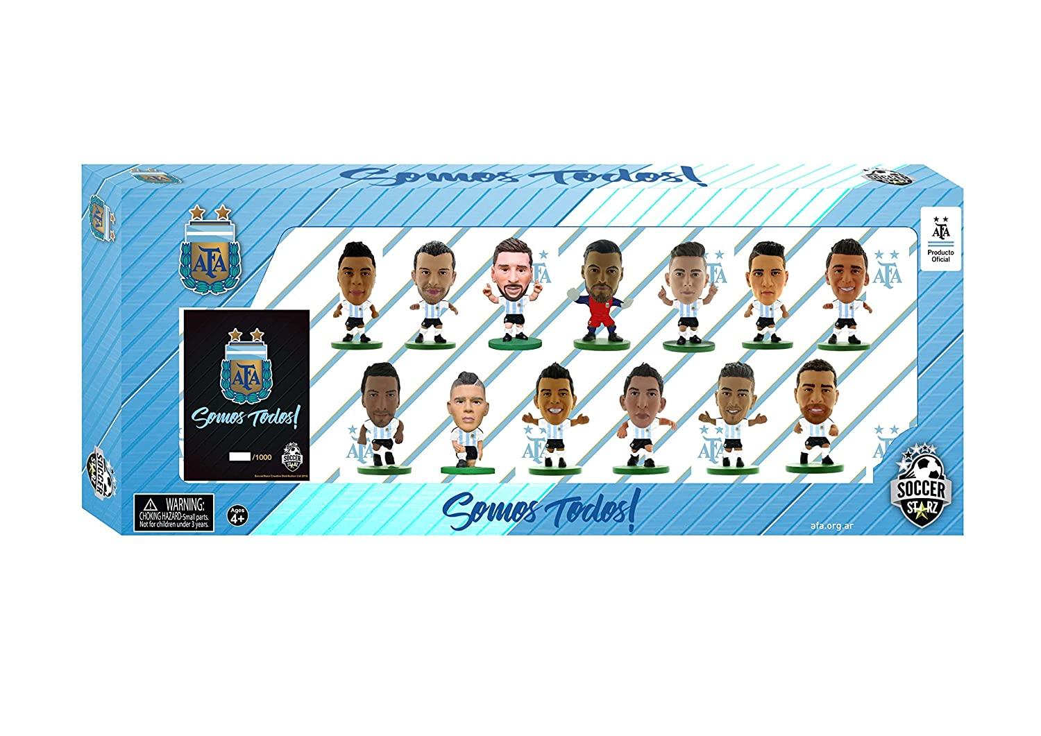 SoccerStarz ARGTP18 Argentina 13 Player Team Pack 2018 Edition Figure
