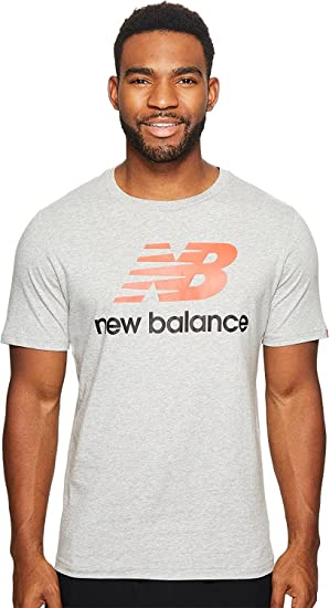 a77b67090 New Balance Mens Essentials Stacked Logo Tee at Amazon Men's Clothing store: