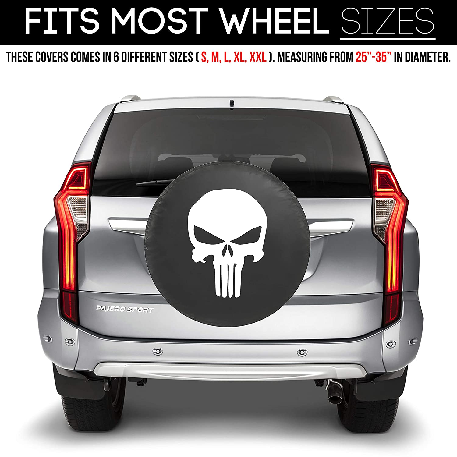 RV XXL Fit Most Wheel Sizes by Kankesh , Black Truck 18 INCH Must-Have Car Accessories for Your SUV Trailer Kenkesh 4350437939 Spare Tire Cover Jeep