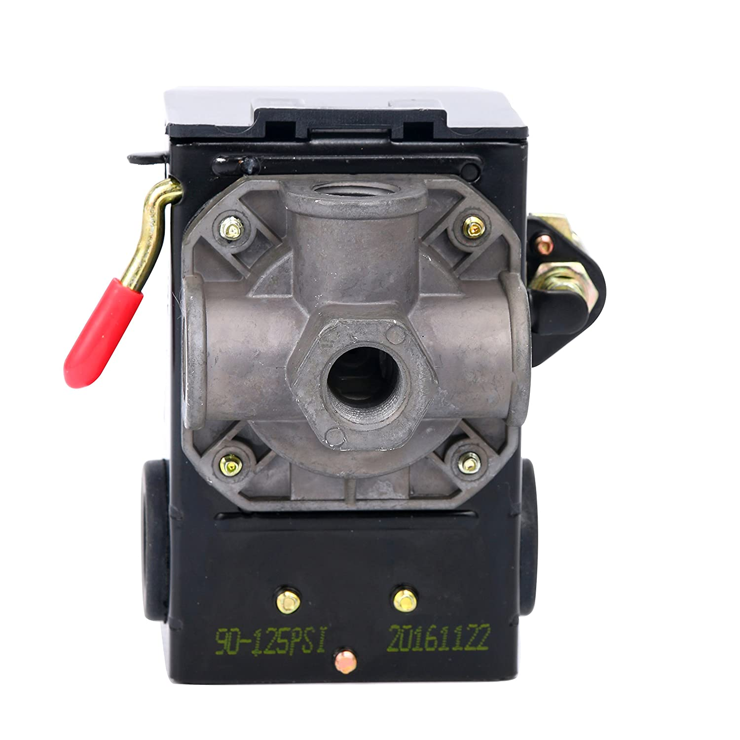 Lefoo Pressure Switch Control 90-125psi 4 Port Heavy Duty 26 Amp for on