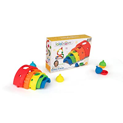 Lalaboom BL720 – Developmental Rainbow Arches and Beads Game 13 Piece Set– Match, Design, Pop, and Play — Montessori Method STEM Focus – Dishwasher Safe - Ages 18 Months - 4 Years: Toys & Games