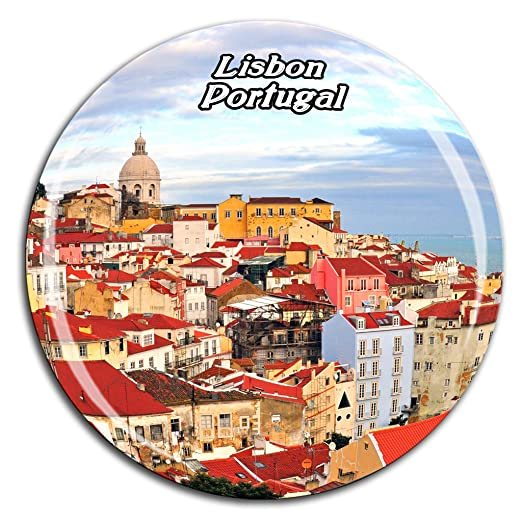 Weekino Alfama Lisboa Portugal Imán de Nevera Cristal de Cristal ...