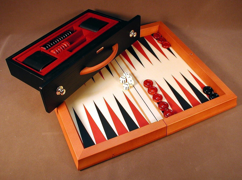 100%正規品 Red Backgammon Red & Blk Wood Blk Flat Backgammon B005IDRA8Y, 中川根町:fbeb8901 --- arianechie.dominiotemporario.com
