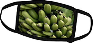 3dRose Danita Delimont - Food - French Polynesia, Mangareva, Rikitea. Close up of Bunch of Bananas. - Face Masks (fm_228541_2)