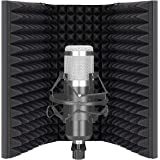 Neewer Pro Microphone Isolation Shield, 3-Panel Pop Filter, High Density Absorbent Foam Front & Vented Metal Back Plate…