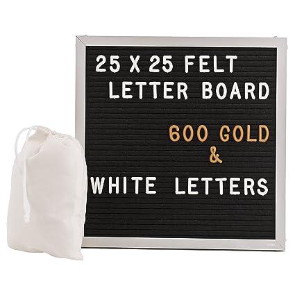 Gadgy ® Aluminio Fieltro Letter Board 25x25 cm | Retro ...