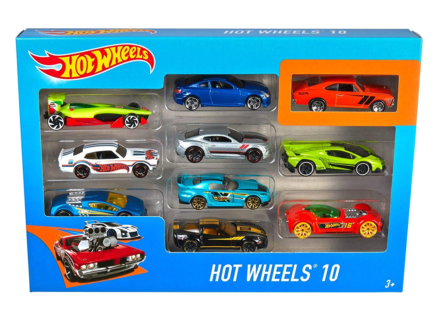 Hot Wheels 10 Car Pack (Styles May Vary)  [Amazon Exclusive] 54886