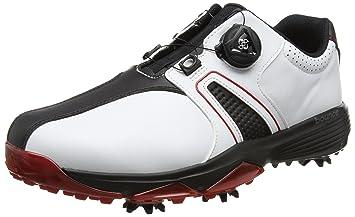 the latest b3b34 84125 adidas 360 Traxion Boa Chaussures de Golf Homme, Blanc (WhiteCore Black