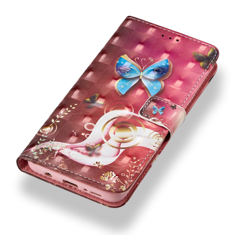 Sch/önheit Grandoin Galaxy S9 H/ülle Handyh/ülle im Brieftasche-Stil f/ür Samsung Galaxy S9 Handytasche PU Leder Flip Cover 3D Bunte Muster Book Case Schutzh/ülle Etui Case