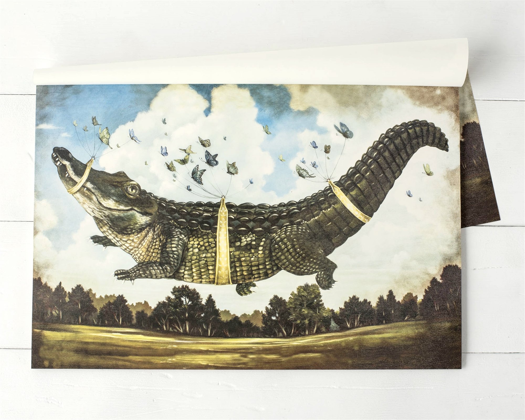 Hester & Cook Paper Placemat, Pad of 30 - Alligator's Big Day
